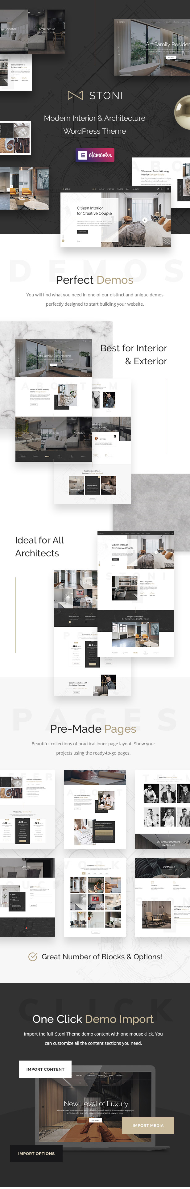 Stoni - Architecture Agency WordPress Theme - 1