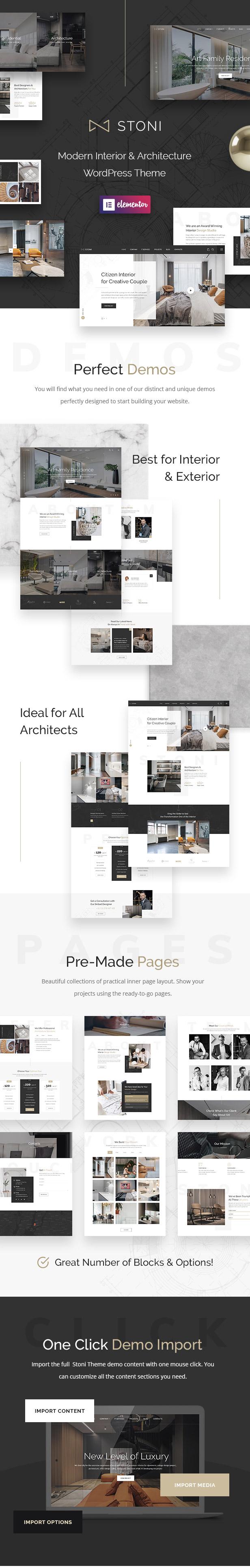 Stoni - Architecture & Interior Design Agency WordPress Theme - 2